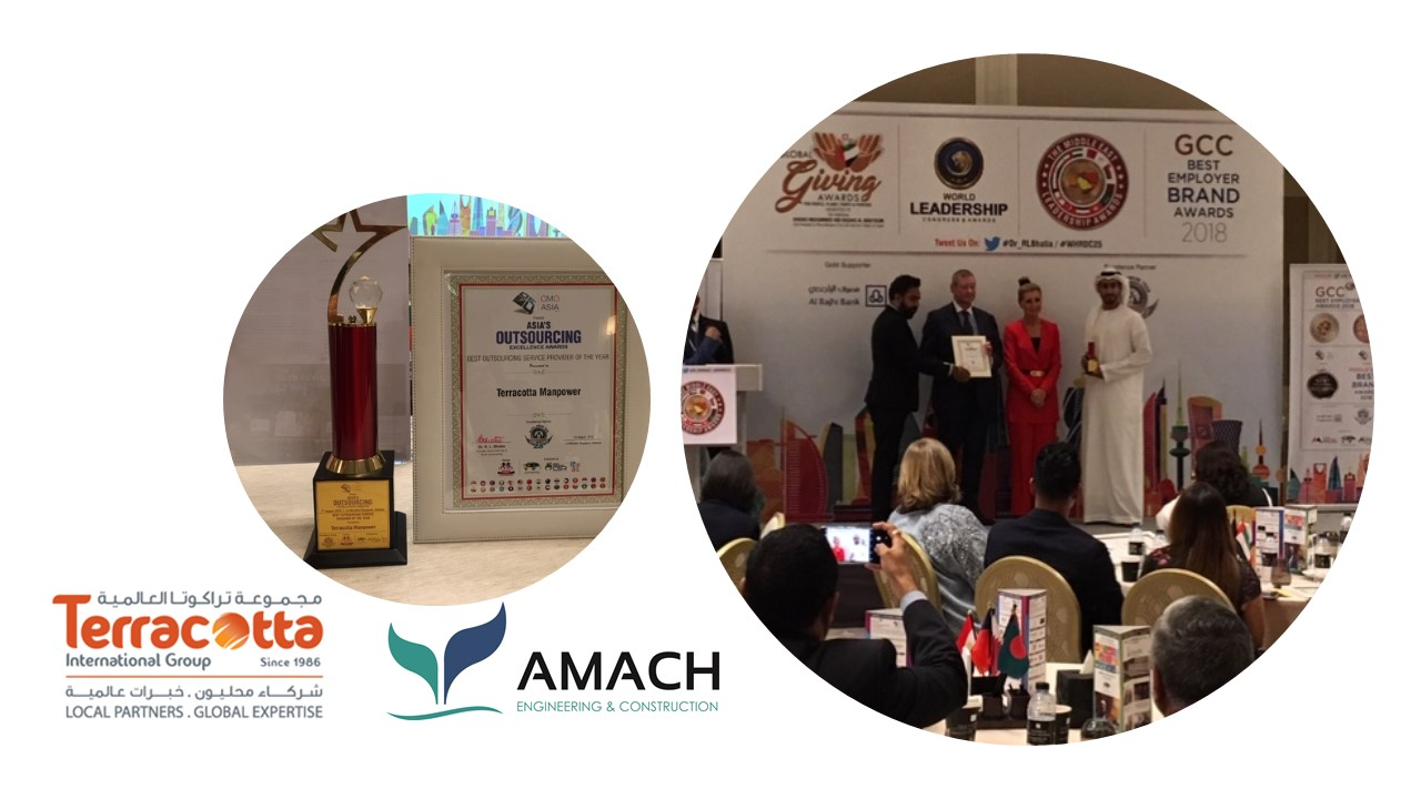 An award for TERRACOTTA, our business partner in UAE | Amach Consulting